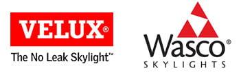 Velux & Wasco logos